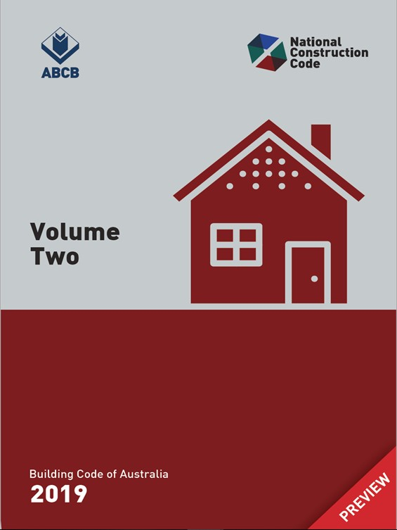 National Construction Code 2019 Volume Two Cover Page