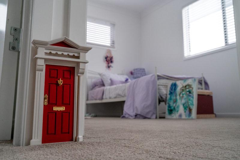 Fairy door in kids bedroom doorway
