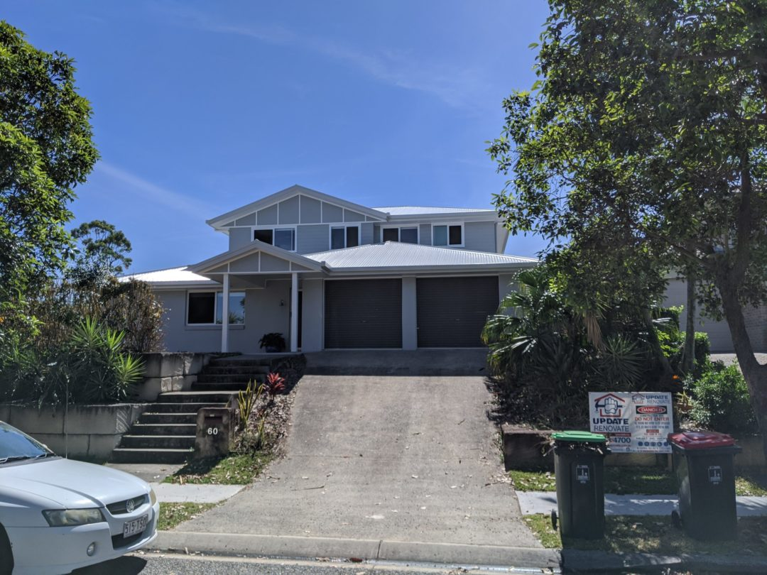 Finished Facade of a second storey extension Belmont Brisbane