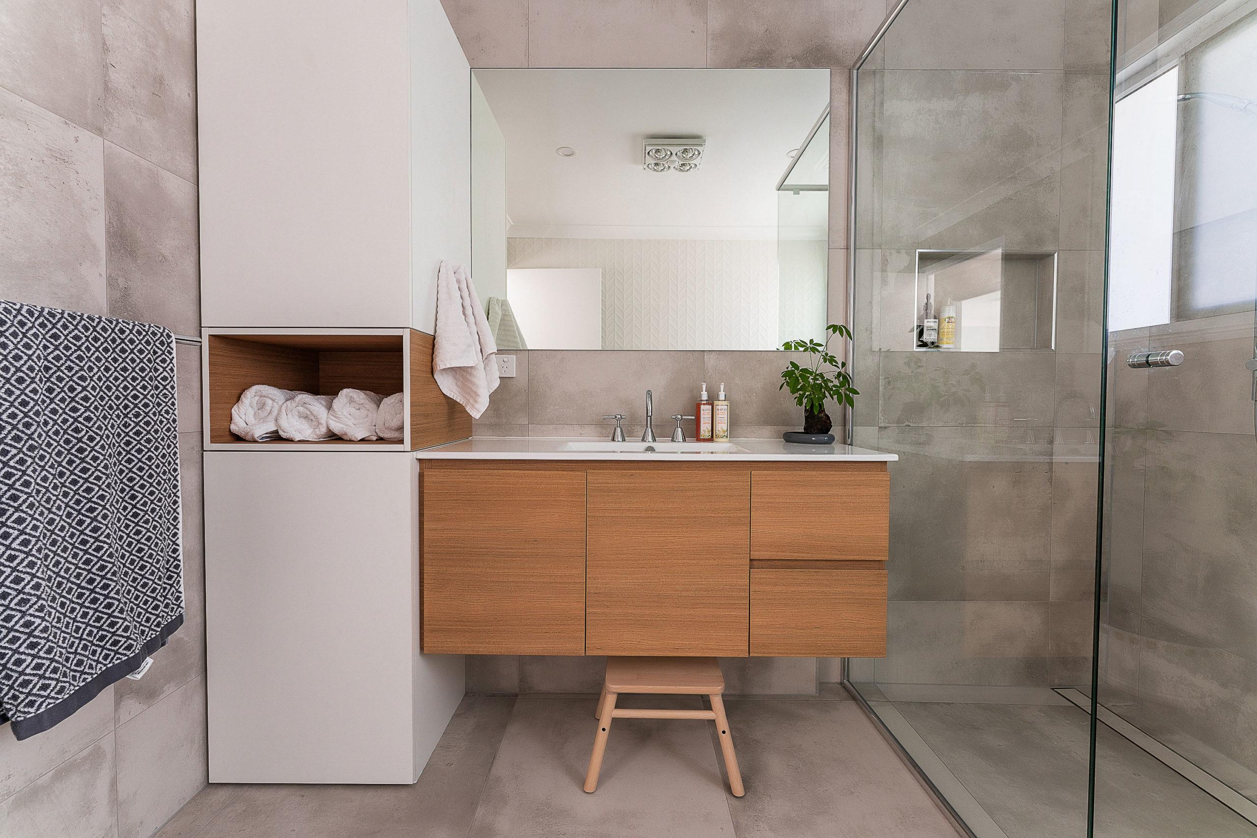 Main bath of a second storey renovation, second storey addition Belmont Brisbane
