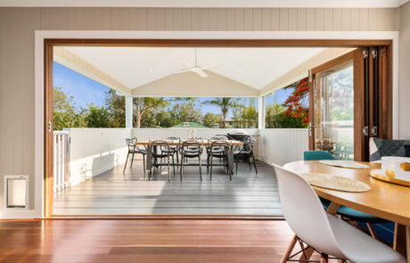 Deck for an extension in Oxley Brisbane