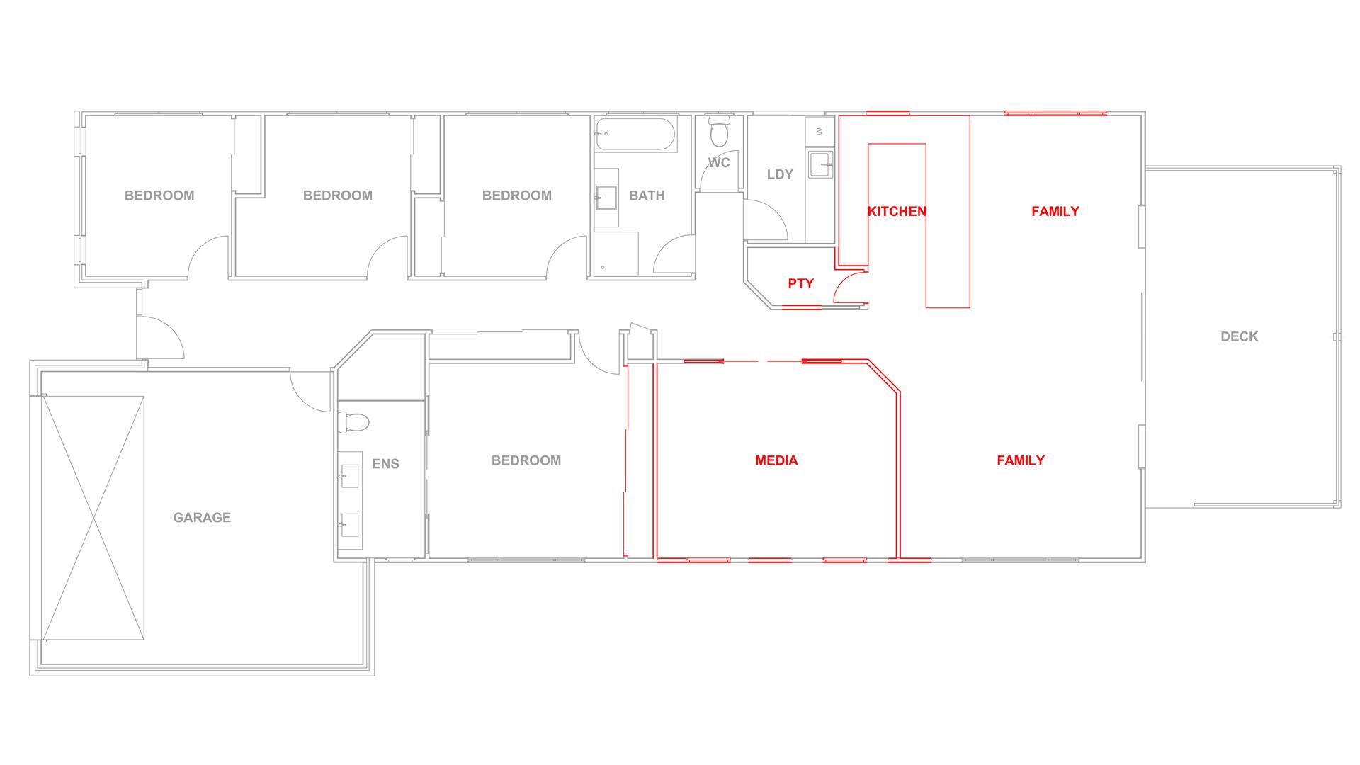 Demolition plan - House Renovation